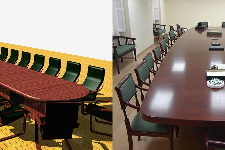 Fabricacion de mesas de oficina